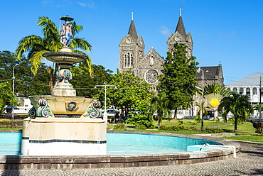 Independence Square in Basseterre, St. Kitts, St. Kitts and Nevis, Leeward Islands, West Indies, Caribbean, Central America
