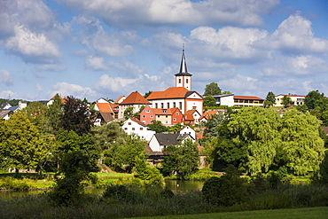 The town of Wertheim in the Main valley, Franconia, Bavaria, Germany, Europe