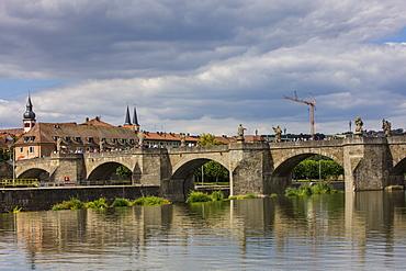 Old Main Bridge, Wurzburg, Franconia, Bavaria, Germany, Europe