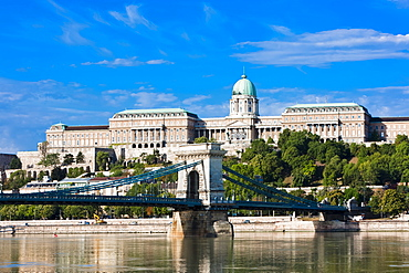 Buda castle above the River Danube, Budapest, Hungary, Europe