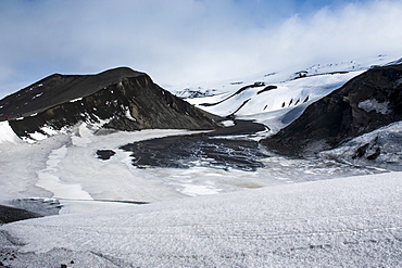 Volcano crater at Deception Island, South Shetland Islands, Antarctica, Polar Regions