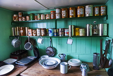 Old food conserves in the Port Lockroy research station, Antarctica, Polar Regions
