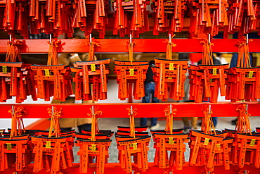 Souvenirs of the Endless Red Gates of Kyoto's Fushimi Inari Shrine, Kyoto, Japan, Asia