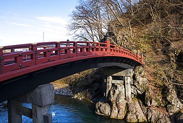 Shinkyo Bridge, UNESCO World Heritage Site, Nikko, Kanto, Japan, Asia