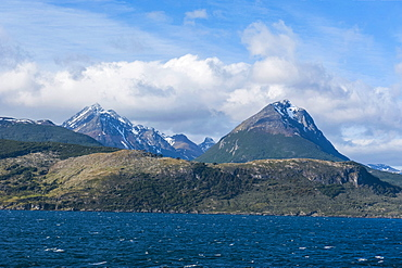 The mountains on the Beagle Channel, Argentina, South America