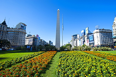 Obelisk on Plaza Republica, Buenos Aires, Argentina, South America