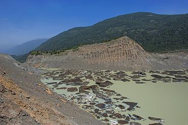 Black ice in the Nahuel Huapi National Park, Argentina, South America