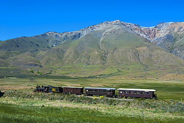 La Trochita, the Old Patagonian Express between Esquel and El Maiten in Chubut Province, Patagonia, Argentina, South America