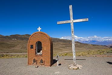 Christian sanctuary on a mountain pass near Mendoza, Argentina, South America