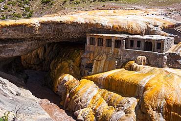 The Inca Bridge near Mendoza, Argentina, South America