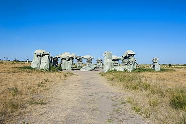Carhenge, a replica of England's Stonehenge, made out of cars near Alliance, Nebraska, United States of America, North America
