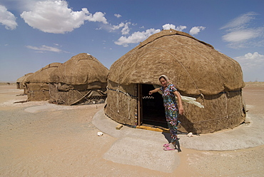 Ayaz Qala Yurt camp, Karakalpakstan, Uzbekistan, Central Asia, Asia