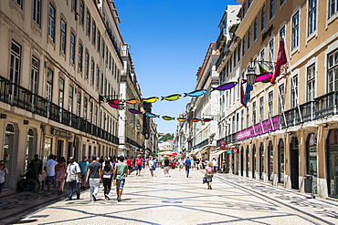 The old town quarter of Baixa in Lisbon, Portugal, Europe