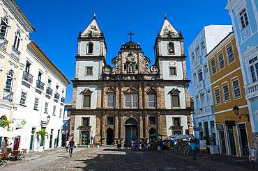 Colonial architecture in the Pelourinho, UNESCO World Heritage Site, Salvador da Bahia, Bahia, Brazil, South America