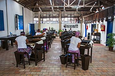 Women rolling cigars in the Dannemann cigar company in Cachoeira, Bahia, Brazil, South America