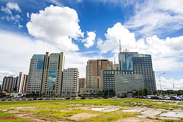 High rise buildings in the center of Brasilia, Brazil, South America