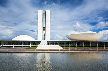 The Brazilian Congress, Brasilia, UNESCO World Heritage Site, Brazil, South America