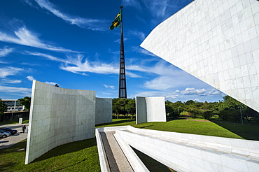 Architecture of Oscar Niemeyer at the Plaza of the Three Powers, Brasilia, UNESCO World Heritage Site, Brazil, South America