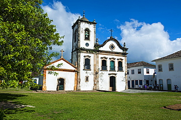 Santa Rita church in Paraty, south of Rio de Janeiro, Brazil, South America