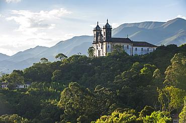 Nossa Senhora do Carmo church, Ouro Preto, UNESCO World Heritage Site, MInas Gerais, Brazil, South America