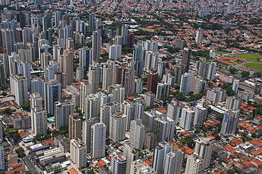 Aerial of Sao Paulo, Brazil, South America