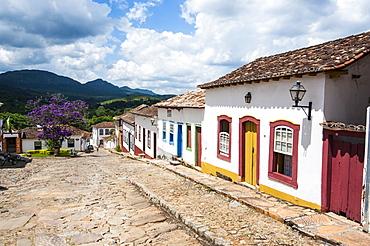 Historical mining town of Tiradentes, Minas Gerais, Brazil, South America