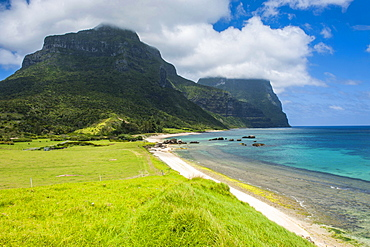 Mount Lidgbird and Mount Gower, Lord Howe Island, UNESCO World Heritage Site, Australia, Tasman Sea, Pacific
