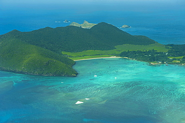 Aerial of view Lord Howe Island, UNESCO World Heritage Site, Australia, Tasman Sea, Pacific