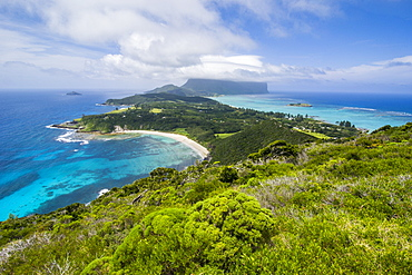 View from Malabar Hill over Lord Howe Island, UNESCO World Heritage Site, Australia, Tasman Sea, Pacific