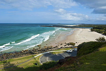 View from the Captain Cook memorial over Fingal Head in Tweed Heads, New South Wales, Australia, Pacific