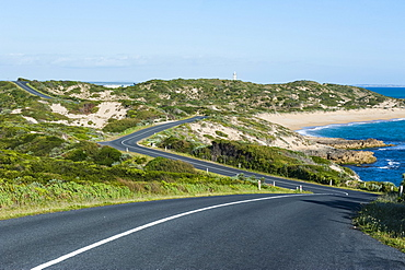 Curvy road in Beachport, South Australia, Australia, Pacific