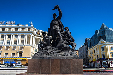 Monument to the Fighters for Soviet Power, Vladivostok, Russia, Eurasia