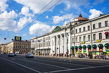Grandiose houses on Nevsky Prospekt, St. Petersburg, Russia