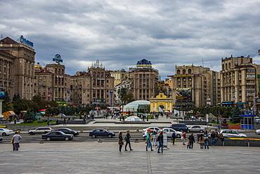 Maidan Nezalezhnosti, center of Kiev, Ukraine, Europe