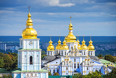 St. Michael's gold-domed cathedral, Kiev (Kyiv), Ukraine, Europe