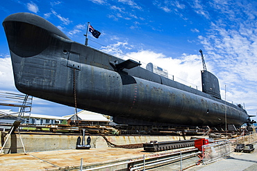 HMAS Ovens Submarine in the Western Australian Maritime Museum, Fremantle, Western Australia, Australia, Pacific