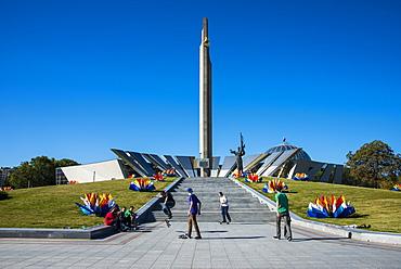 Hero City Obelisk, Pieramohi Park, Minsk, Belarus, Europe