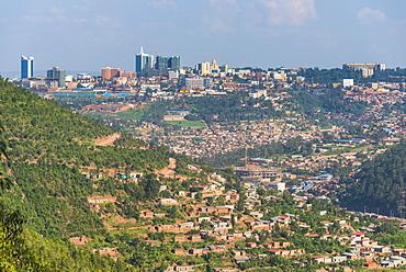 View over Kigali, Rwanda, Africa