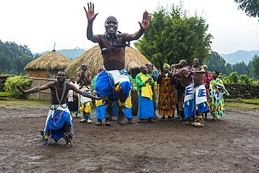 Ceremony of former poachers, in the Virunga National Park, Rwanda, Africa
