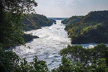 Murchison Falls, also known as Kabarega Falls on the Nile, Murchison Falls National Park, Uganda, Africa