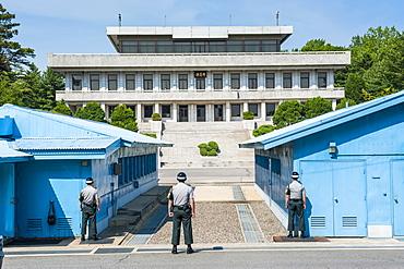 The high security border between South and North Korea, Panmunjom, South Korea, Asia