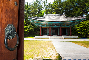 Samchungsa Temple in the Buso Mountain Fortress in the Busosan Park, Buyeo, South Korea, Asia