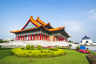 National concert hall on the grounds of the Chiang Kai-Shek memorial hall, Taipeh, Taiwan