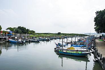 Little boats, Guandu Nature Park, Guandu, Taipeh, Taiwan, Asia