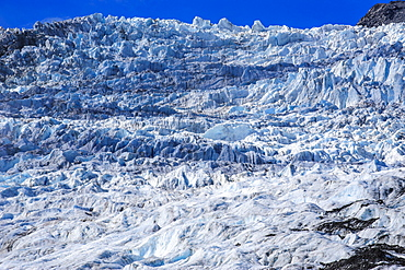 The huge icefield of the Fox Glacier, Westland Tai Poutini National Park, South Island, New Zealand, Pacific