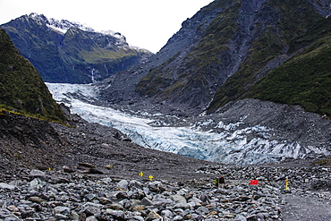 Glacial outflow of Fox Glacier, Westland Tai Poutini National Park, South Island, New Zealand, Pacific