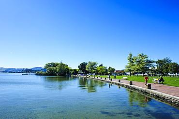The shores of Lake Rotorua, Rotorua, North Island, New Zealand, Pacific
