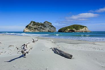 Archway islands, Wharariki Beach, South Island, New Zealand, Pacific