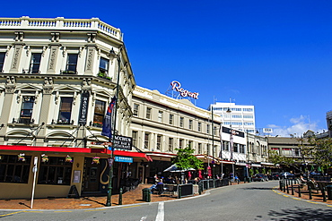 The Octagon town center of Dunedin, Otago, South Island, New Zealand, Pacific