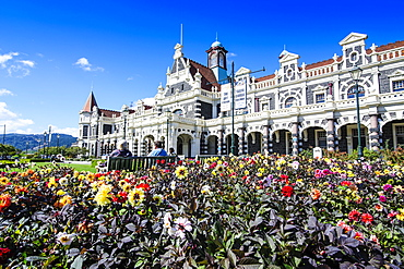 Edwardian railway station, Dunedin, Otago, South Island, New Zealand, Pacific